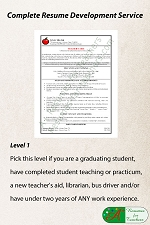 Level 1 Resume Development